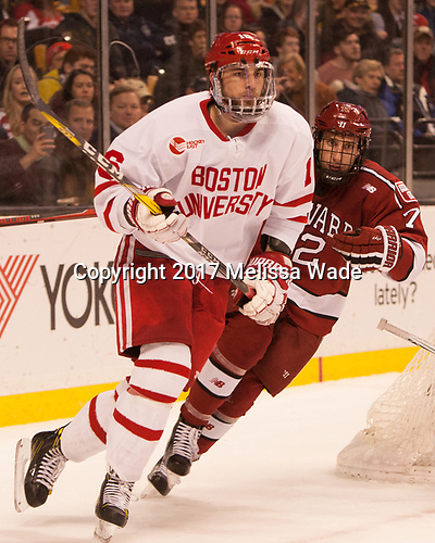 John MacLeod (BU - 16), Phil Zielonka (Harvard - 72) - The Harvard University Crimson defeated the Boston University Terriers 6-3 (EN) to win the 2017 Beanpot on Monday, February 13, 2017, at TD Garden in Boston, Massachusetts.