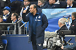 16.03.2019, VELTINS-Arena, Gelsenkirchen, GER, DFL, 1. BL, FC Schalke 04 vs RB Leipzig, DFL regulations prohibit any use of photographs as image sequences and/or quasi-video<br /> <br /> im Bild Huub Stevens (FC Schalke 04) Gestik / Geste / gestikuliert / <br /> <br /> Foto © nph/Mauelshagen