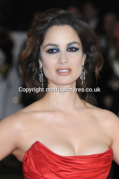 NON EXCLUSIVE PICTURE: PAUL TREADWAY / MATRIXPICTURES.CO.UK.PLEASE CREDIT ALL USES..WORLD RIGHTS..French actress Berenice Marlohe attends The Royal World Premiere of Skyfall, Royal Albert Hall, London...OCTOBER 23RD 2012..REF: PTY 124755.