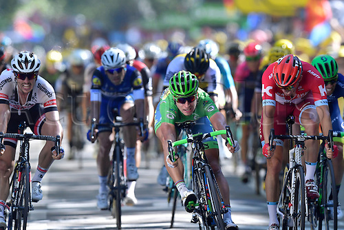18.07.2016. Moirans-en-Montagne to Berne, Switzerland.  SAGAN Peter (SVK) of TINKOFF wins the stage in a mass bunch sprint in front of KRISTOFF Alexander (NOR) of TEAM KATUSHA and DEGENKOLB John (GER) of TEAM GIANT - ALPECIN during stage 16 of the 2016 Tour de France a 209 km stage between Moirans-en-Montangne and Berne, on July 18, 2016 in Berne, Switzerland