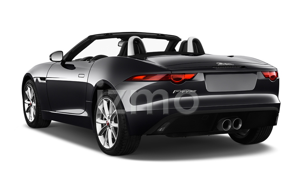 Car pictures of rear three quarter view of a 2018 Jaguar F-Type Base 2 Door Convertible angular rear