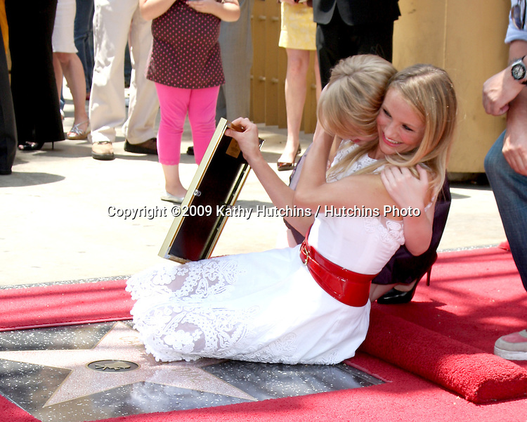 Sofia Vassilieva & Cameron Diaz at the Cameron Diaz Star on the Hollywood Walk of Fame Ceremony  in front of the Egyptian Theater on June 22, 2009.  .©2009 Kathy Hutchins / Hutchins Photo