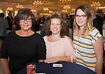 SOUTHINGTON, CT-092617JS25-- Lori Nemec; Michele Miller and Jessica Allen, all with ION Bank, at the 23rd annual Malcolm Baldrige Chamber Awards Dinner held at the Aqua Turf in Southington. <br /> Jim Shannon Republican-American