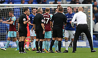 Burnley Manager Sean Dyche shakes Wayne Rooneys hand at the end of the game<br /> <br /> Photographer Rachel Holborn/CameraSport<br /> <br /> The Premier League - Everton v Burnley - Sunday 1st October 2017 - Goodison Park - Liverpool<br /> <br /> World Copyright &copy; 2017 CameraSport. All rights reserved. 43 Linden Ave. Countesthorpe. Leicester. England. LE8 5PG - Tel: +44 (0) 116 277 4147 - admin@camerasport.com - www.camerasport.com