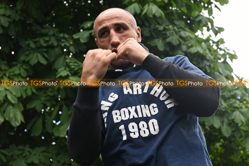 Arthur Abraham during a Public Work Out at ITV Head Office on 12th July 2017