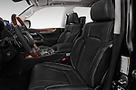 Front seat view of 2017 Lexus LX 570 5 Door SUV Front Seat  car photos