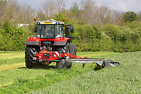 Mowing grass for silage<br /> ©Tim Scrivener Photographer 07850 303986<br />      ....Covering Agriculture In The UK....