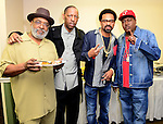 MIAMI, FL - JANUARY 16: Pap, Henry Welch, actor/ comedian Mike Epps and rapper Trick Daddy backstage during The Festival of Laughs day1 at James L Knight Center on Friday January 16, 2015 in Miami, Florida. (Photo by Johnny Louis/jlnphotography.com)