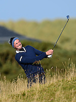 Matthew Goode in action during Round 3 of the 2015 Alfred Dunhill Links Championship at the Old Course, St Andrews, in Fife, Scotland on 3/10/15.<br /> Picture: Richard Martin-Roberts | Golffile