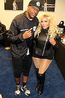 NEWARK, NJ - SEPTEMBER 25: Slim and Lil Kim pictured backstage at the Bad Boy Family Reunion concert at The Prudential Center in Newark, New Jersey on September 25, 2016. Credit: Walik Goshorn/MediaPunch