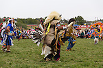 The Native American Dance Competition, also known as a powwow, at the Pendleton Round Up Rodeo, Pendleton OR, USA
