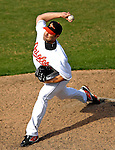 9 March 2007: Baltimore Orioles pitcher Danys Baez on the mound against the Washington Nationals at Fort Lauderdale Stadium in Fort Lauderdale, Florida. <br /> <br /> Mandatory Photo Credit: Ed Wolfstein Photo