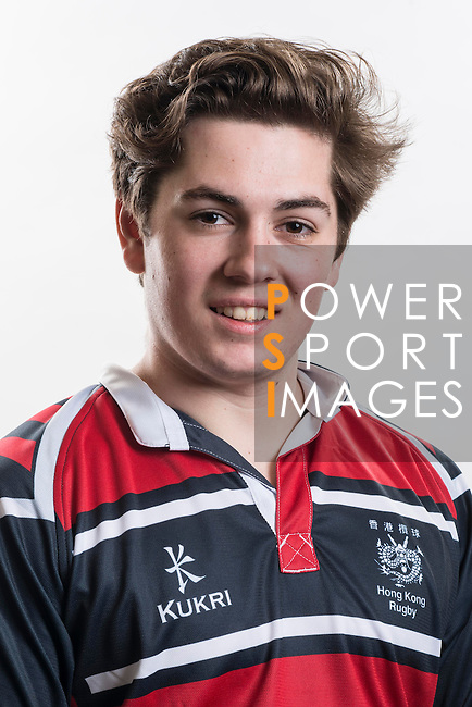 Hong Kong Junior Squad team member Flynn Kennedy poses during the Official Photo Session Day at King's Park Sports Ground ahead the Junior World Rugby Tournament on 25 March 2014. Photo by Andy Jones / Power Sport Images