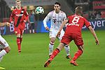 12.01.2018, BayArena, Leverkusen , GER, 1.FBL., Bayer 04 Leverkusen vs. FC Bayern M&uuml;nchen<br /> im Bild / picture shows: <br /> James Rodriguez (Bayern Muenchen #11),  im Zweikampf gegen  Lars Bender (Leverkusen #8), <br /> <br /> <br /> Foto &copy; nordphoto / Meuter