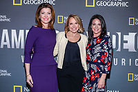 "NEW YORK - APRIL 9: Norah O'Donnell, Anchor CBS This Morning, Katie Couric, Host and Executive Producer, Courteney Monroe, CEO, National Geographic Global Networks attend National Geographic's ""America Inside Out with Katie Couric"" Premiere Screening at the Titus Theater at MOMA on April 9, 2018 in New York City. ""America Inside Out with Katie Couric"", a new six-part documentary series, follows Couric as she travels the country to talk with the people bearing witness to the most complicated and consequential questions in American culture today. The weekly series premieres Wednesday, April 11, 2018, at 10/9c and will air globally on National Geographic.(Photo by Anthony Behar/National Geographic/PictureGroup)"