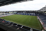 KANSAS CITY, KS - SEPTEMBER 20: A view of the field from the press box before the game. Sporting Kansas City hosted the New York Red Bulls on September 20, 2017 at Children's Mercy Park in Kansas City, KS in the 2017 Lamar Hunt U.S. Open Cup Final. Sporting Kansas City won the match 2-1.