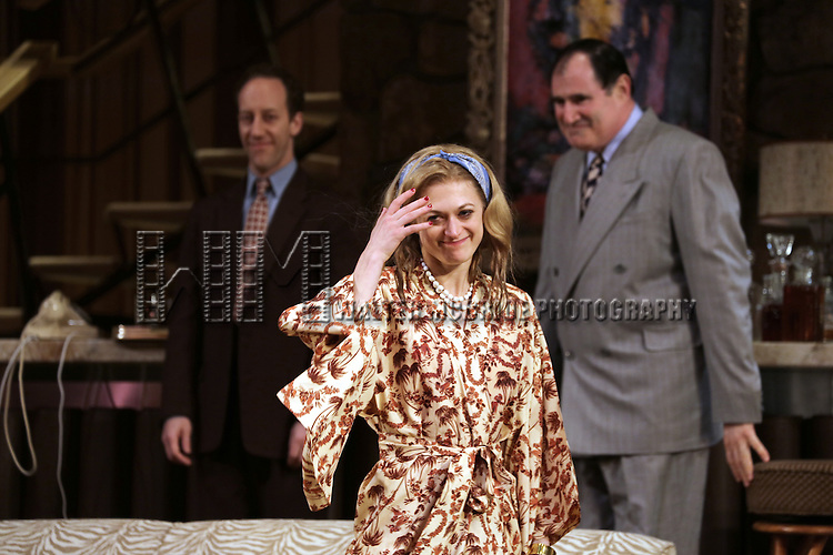 Marin Ireland during the Curtain Call for the Roundabout Theatre Company's Broadway Production of 'The Big Knife' at the American Airlines Theatre in New York City on 4/16/2013...