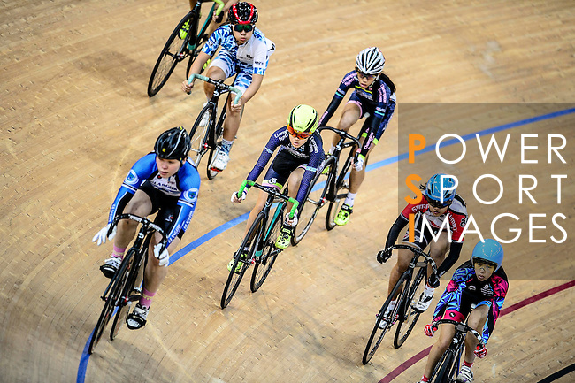 Hui Yat Nga of team X SPEED (c) during the Elimination Women Final Track Cycling Race 2016-17 Series 3 at the Hong Kong Velodrome on February 4, 2017 in Hong Kong, China. Photo by Marcio Rodrigo Machado / Power Sport Images