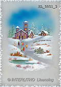 Interlitho, CHRISTMAS SANTA, SNOWMAN, nostalgic, paintings, church, people(KL5051/3,#X#) Weihnachten, nostalgisch, Navidad, nostálgico, illustrations, pinturas