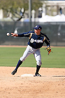 Jose Duran, Milwaukee Brewers 2010 minor league spring training..Photo by:  Bill Mitchell/Four Seam Images.