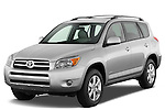 Front three quarter view of 2008 Toyota Rav4 Limited SUV Stock Photo