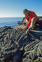 Lava formations in rock on St. Paul Island, Pribilof Islands, Alaska