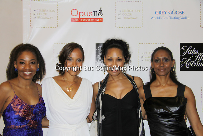 "Guiding Light Yvonna Wright and Kim Brockington along with Adriane Lenoz (Tony winner 2007 for ""Doubt"") and actress Sally Stewart as they attend the Innaugural Celebration of Color on Broadway Awards were held on June 8, 2011 at SAKS Fifth Avenue, New York City, New York. The event was held upstairs where beautiful shoes are sold and where a part of the sales this night will benefit OPUS 118 Harlem's School of Music. (Photo by Sue Coflin/Max Photos)"