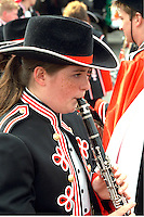 Cinco de Mayo parade participant playing clarinet age 16.  St Paul Minnesota USA