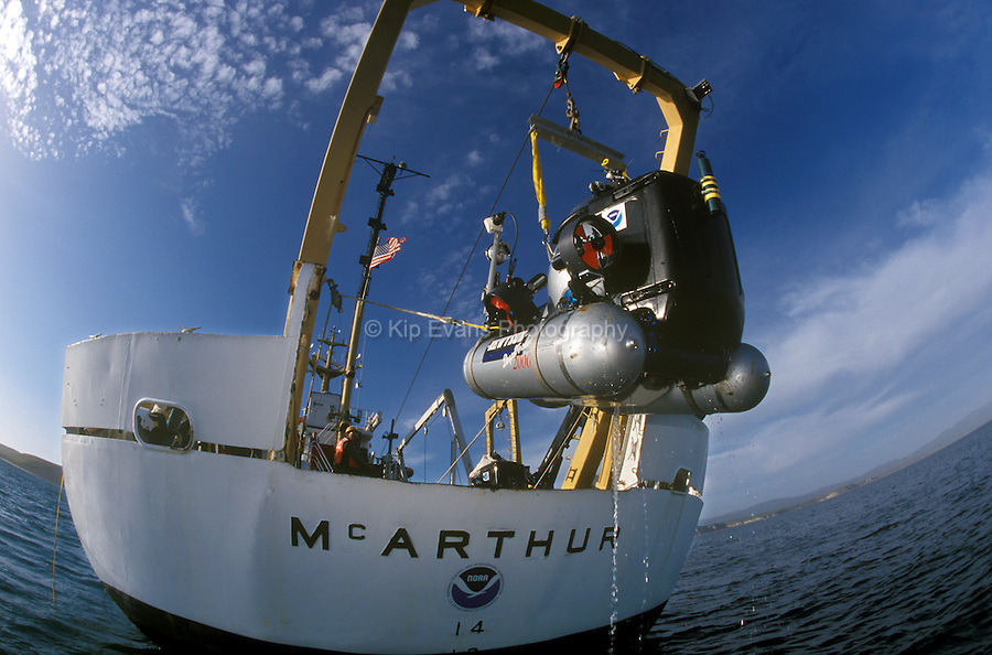 Launch of the Deep Worker One-Man Submersible