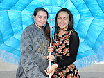 Rebecca Hanlon and Iesha Moustafa pictured at the samba festival. Photo: Colin Bell/pressphotos.ie