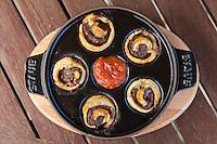 Venison Sausage Rolls food , Astor Grill Restaurant.