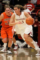 STANFORD, CA - FEBRUARY 20:  Jeanette Pohlen of the Stanford Cardinal during Stanford's 82-48 win over Oregon State on February 20, 2010 at Maples Pavilion in Stanford, California.