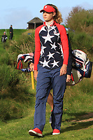 Nelly Korda of Team USA on the 6th during Day 1 Foursomes at the Solheim Cup 2019, Gleneagles Golf CLub, Auchterarder, Perthshire, Scotland. 13/09/2019.<br /> Picture Thos Caffrey / Golffile.ie<br /> <br /> All photo usage must carry mandatory copyright credit (© Golffile | Thos Caffrey)