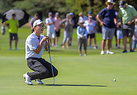 Jang Hyun Lee reacts to a missed putt on the 1st green during the final against Daniel Hillier. Final day of the Jennian Homes Charles Tour / Brian Green Property Group New Zealand Super 6s at Manawatu Golf Club in Palmerston North, New Zealand on Sunday, 8 March 2020. Photo: Dave Lintott / lintottphoto.co.nz