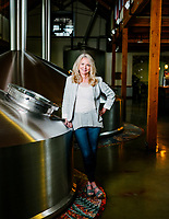 CEO and Founder of New Belgium Brewery Kim Jordan in Fort Collins, Colorado, Monday, June 3, 2019. New Belgium was opened in 1991 by Jeff Lebesch and Kim Jordan.<br /> <br /> Photo by Matt Nager