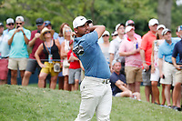 Jason Day (AUS) tees off on the 4th hole during the final round of the 100th PGA Championship at Bellerive Country Club, St. Louis, Missouri, USA. 8/12/2018.<br /> Picture: Golffile.ie | Brian Spurlock<br /> <br /> All photo usage must carry mandatory copyright credit (&copy; Golffile | Brian Spurlock)