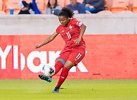 HOUSTON, TX - FEBRUARY 3: Marta Cox #11 of Panama takes a free kick during a game between Panama and Haiti at BBVA Stadium on February 3, 2020 in Houston, Texas.