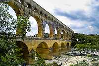 Pont du Gard is part of the Nîmes aqueduct, a 50 km-long structure built by the Romans in southern France.