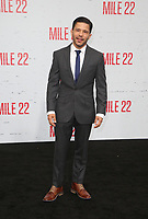 "WESTWOOD, CA - AUGUST 9: Carlo Alban, at Premiere Of STX Films' ""Mile 22"" at The Regency Village Theatre in Westwood, California on August 9, 2018. Credit: Faye Sadou/MediaPunch"
