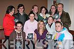POTERY: Ailbhe Ni? Ghearbhuigh who singed and launched her new potery books in Rubins Restaurant, Ashe Street, Tralee on Saturday night. Sinead Ni? Raghaill, Sicnnan Nic Gearaill, Eimear Ni? Chuileana?in, Kelly-Ai?ne Ni? Riaga?n, Treasa Ui? Raghaill, Niall De Bru?n, Aine Breathnach, Neasa Nic An Tsi?thigh, Elaine Dold, Elma Ui? Shu?jlleabha?jn agus Ailbhe Ni? Ghearbhuigh seated centre...   Copyright Kerry's Eye 2008