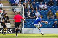 Luke Norris of Colchester United beautifully struck goal in the 90th minute made sure of the hosts victory during Colchester United vs Crawley Town, Sky Bet EFL League 2 Football at the JobServe Community Stadium on 13th October 2018