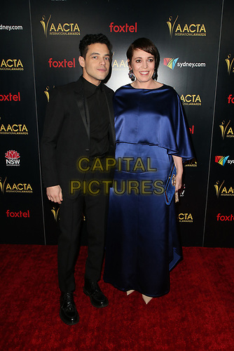 4 January 2019 - West Hollywood, California - Rami Malek, Olivia Colman. the 8th AACTA International Awards held at Skybar at Mondrian.        <br /> CAP/ADM/FS<br /> ©FS/ADM/Capital Pictures