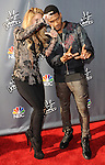 """Shakira and Usher arriving at NBC's """"The Voice"""" Red Carpet Event at Sayers Club in Los Angeles, CA. April 3, 2014."""