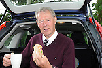 The proof of the sandwich is in the 'eating' says Micheal O'Muircheartaigh who made the perfect 'match day hang sandwich' for the Munster final in Killarney. Brown bread, home cured ham, a little lettuce and tomatoe and evenly trimmed around the edges.<br /> Picture by Don MacMonagle