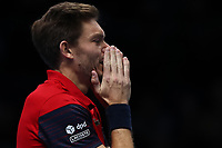 17th November 2019; 02 Arena. London, England; Nitto ATP Tennis Finals; Nicolas Mahut (FRA) celebrates as he wins with Pierre-Hugues Herbert (FRA) the ATP doubles tournament  - Editorial Use