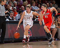 STANFORD, CA - December 15, 2012: Stanford Cardinal's Toni Kokenis during Stanford's 78-43 victory over Pacific at Maples Pavilion in Stanford, California.