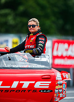 May 5, 2017; Commerce, GA, USA; NHRA pro stock driver Erica Enders-Stevens during qualifying for the Southern Nationals at Atlanta Dragway. Mandatory Credit: Mark J. Rebilas-USA TODAY Sports