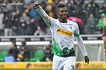 06.10.2019, Borussia-Park - Stadion, Moenchengladbach, GER, DFL, 1. BL, Borussia Moenchengladbach vs. FC Augsburg, DFL regulations prohibit any use of photographs as image sequences and/or quasi-video<br /> <br /> im Bild Breel Embolo (#36, Borussia Moenchengladbach) jubelt nach seinem Tor zum 5:1<br /> <br /> Foto © nordphoto/Mauelshagen