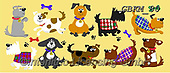 Kate, CUTE ANIMALS, LUSTIGE TIERE, ANIMALITOS DIVERTIDOS, paintings+++++Cats & dogs page 34,GBKM80,#ac#, EVERYDAY ,dogs,dog ,puzzle,puzzles