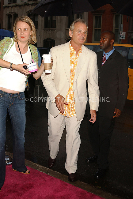 WWW.ACEPIXS.COM . . . . . ....NEW YORK, JULY 27, 2005....Bill Murray at the 'Broken Flowers' premiere held at the Clearview Chelsea West Cinemas.....Please byline: KRISTIN CALLAHAN - ACE PICTURES.. . . . . . ..Ace Pictures, Inc:  ..Craig Ashby (212) 243-8787..e-mail: picturedesk@acepixs.com..web: http://www.acepixs.com